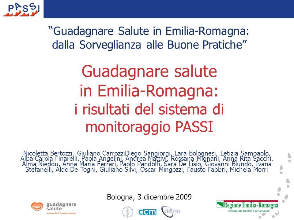 Guadagnare Salute in Emilia-Romagna: dalla Sorveglianza alle Buone Pratiche