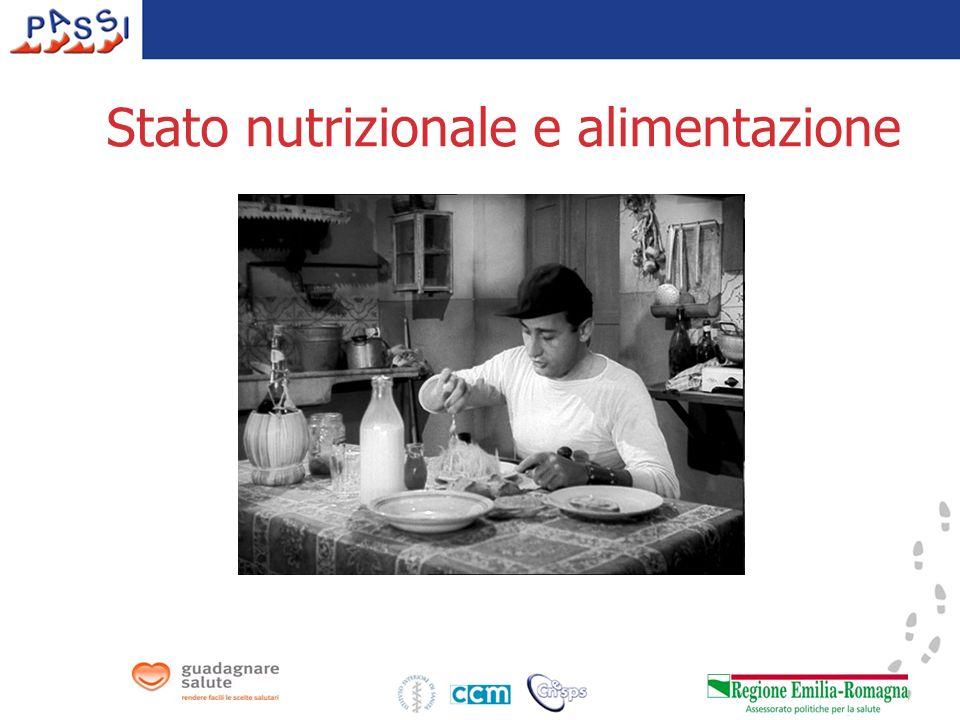 Stato nutrizionale e alimentazione