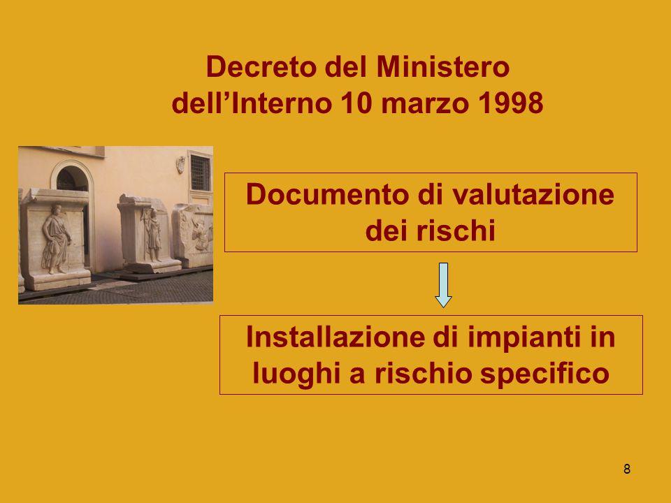 Decreto del Ministero dell'Interno 10 marzo 1998
