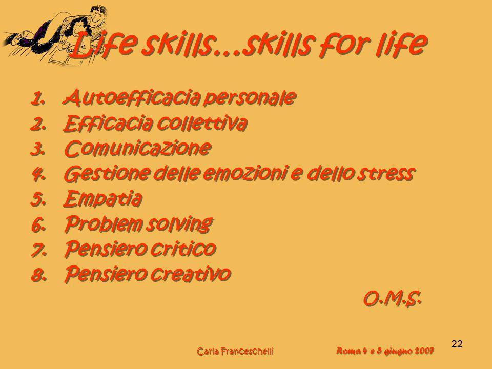 Life skills…skills for life