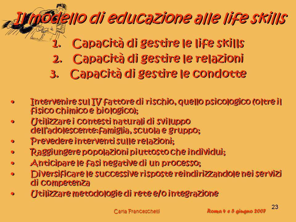 Il modello di educazione alle life skills