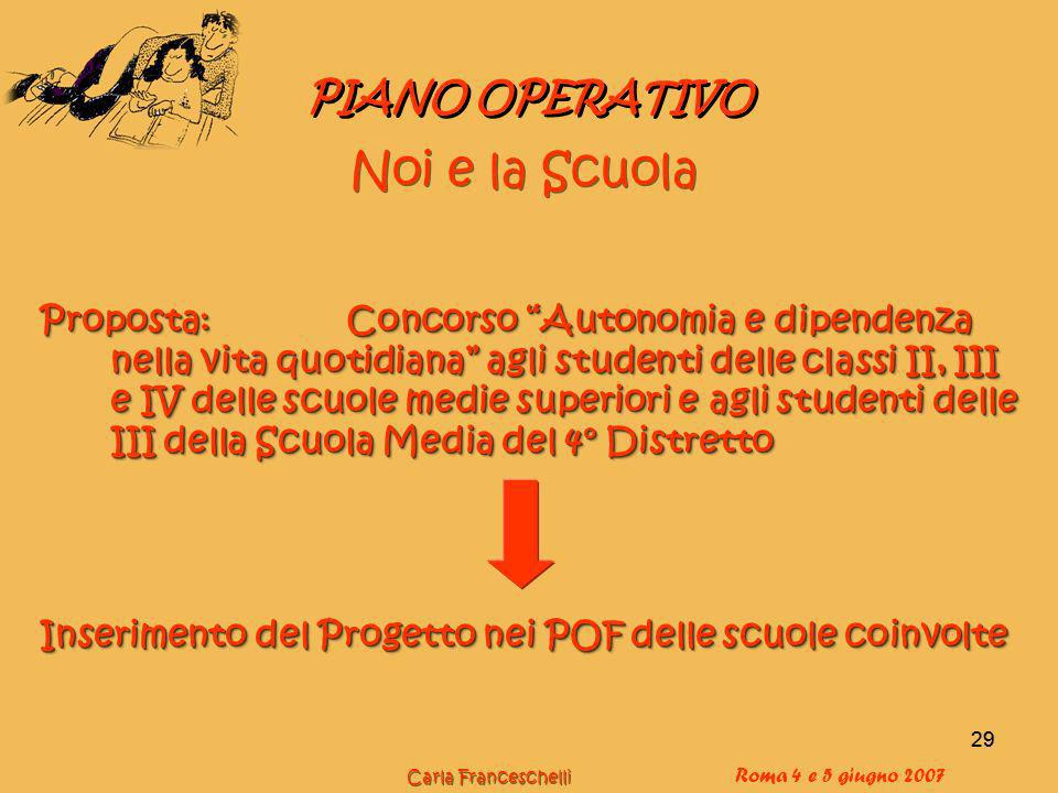 Noi e la Scuola PIANO OPERATIVO