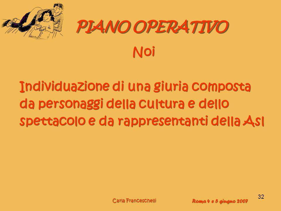 PIANO OPERATIVO Noi Individuazione di una giuria composta
