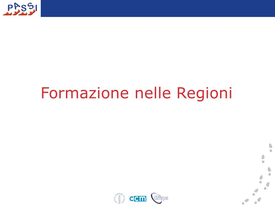 Formazione nelle Regioni