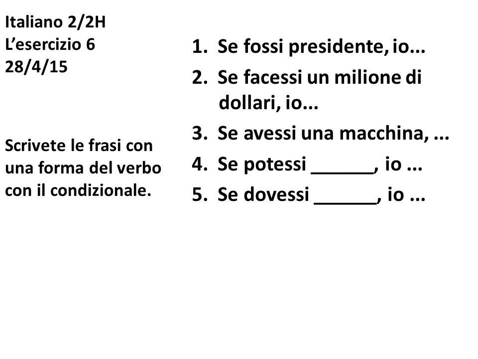 Italiano 2/2H L'esercizio 6 28/4/15