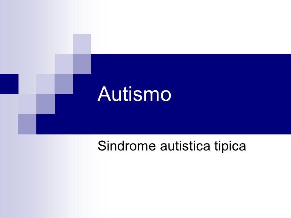 Sindrome autistica tipica