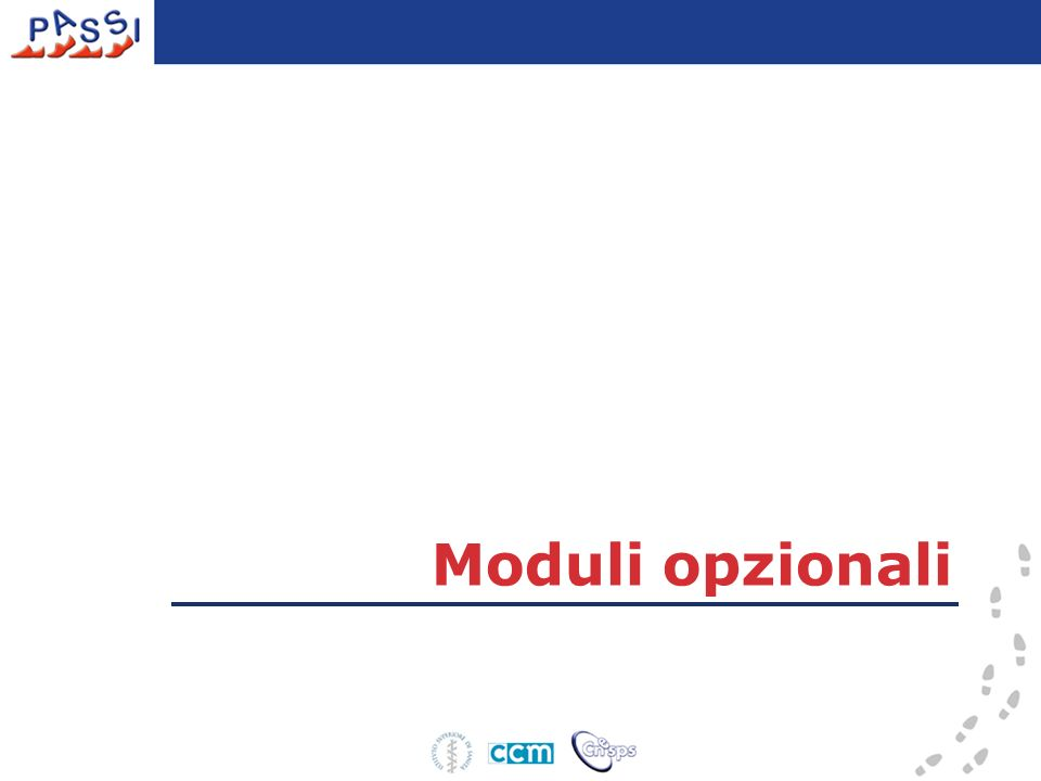 Moduli opzionali 37