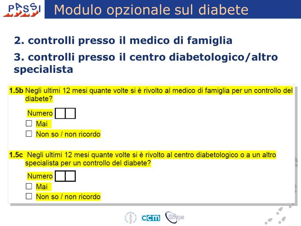 Modulo opzionale sul diabete