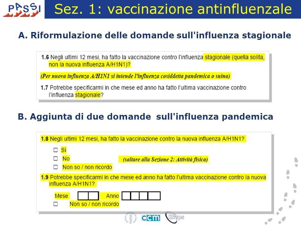 Sez. 1: vaccinazione antinfluenzale