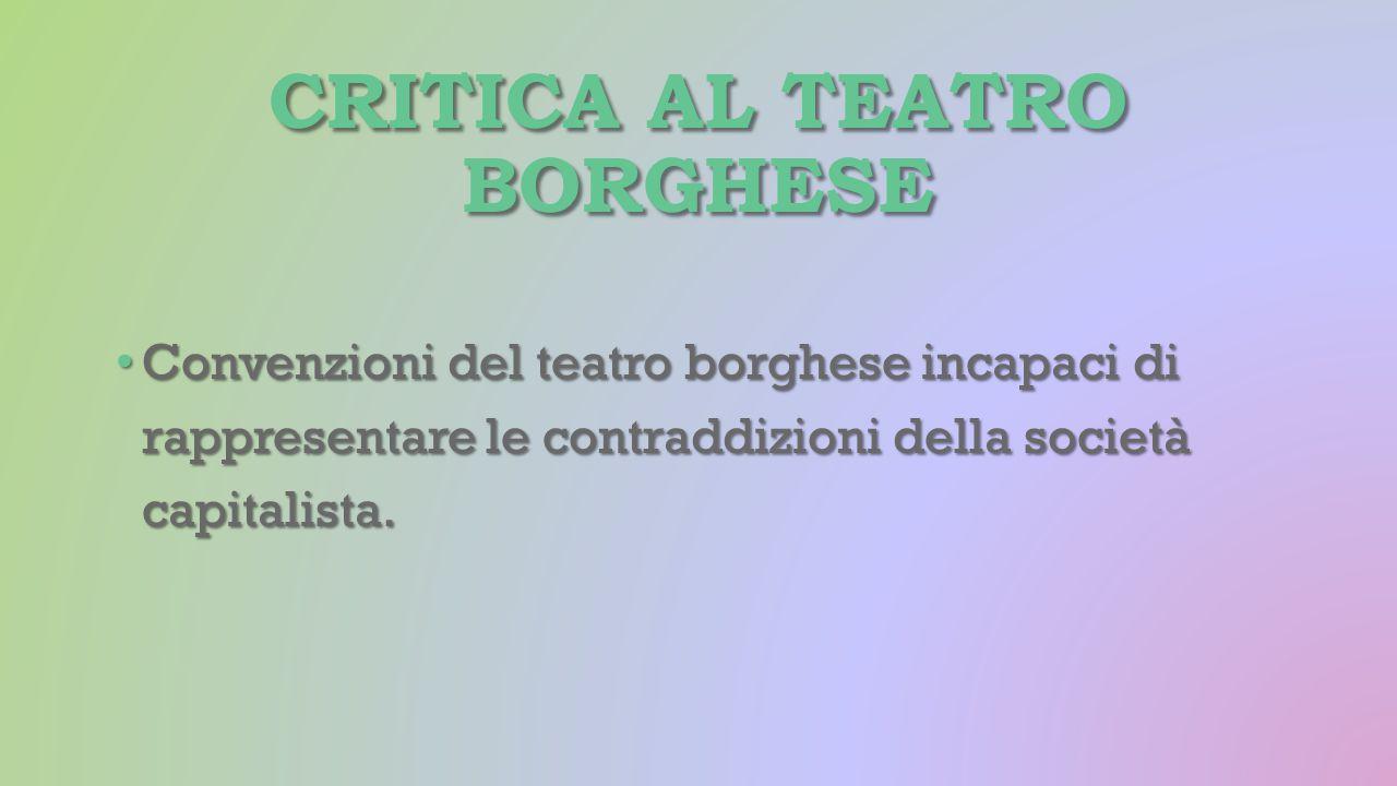 Critica al teatro borghese