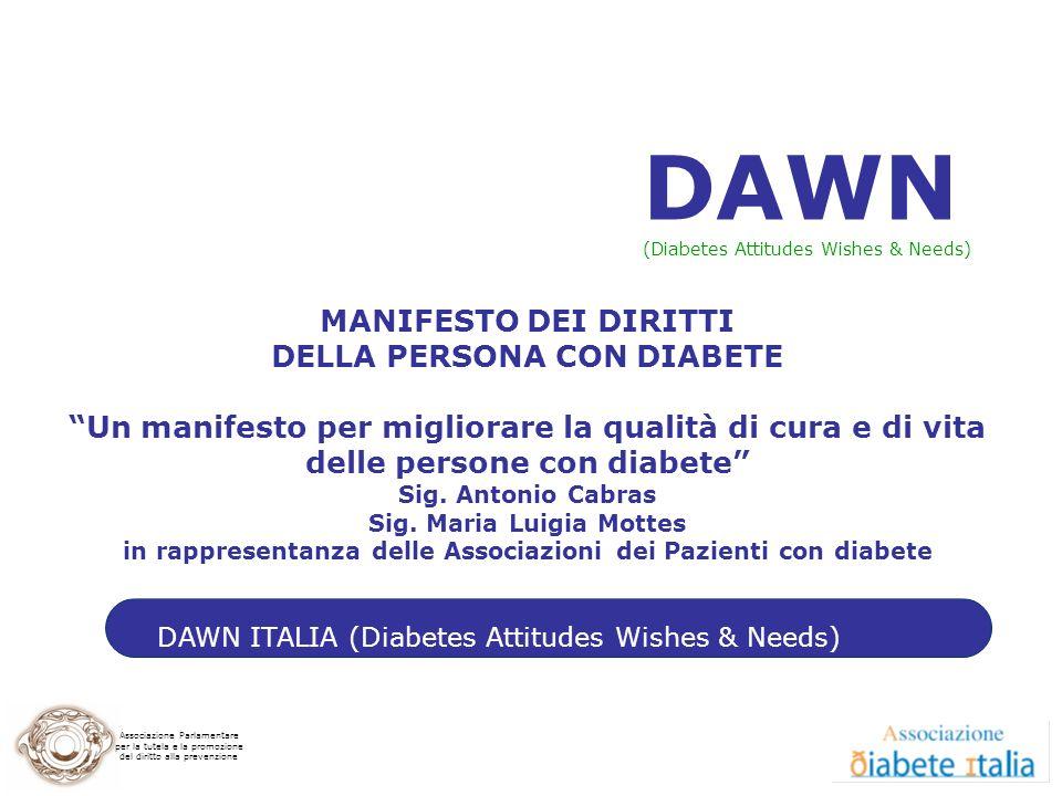 DAWN MANIFESTO DEI DIRITTI DELLA PERSONA CON DIABETE