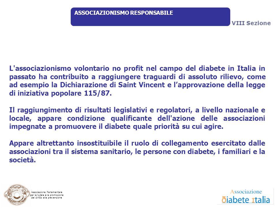 9 Luglio 2009 ASSOCIAZIONISMO RESPONSABILE. VIII Sezione.