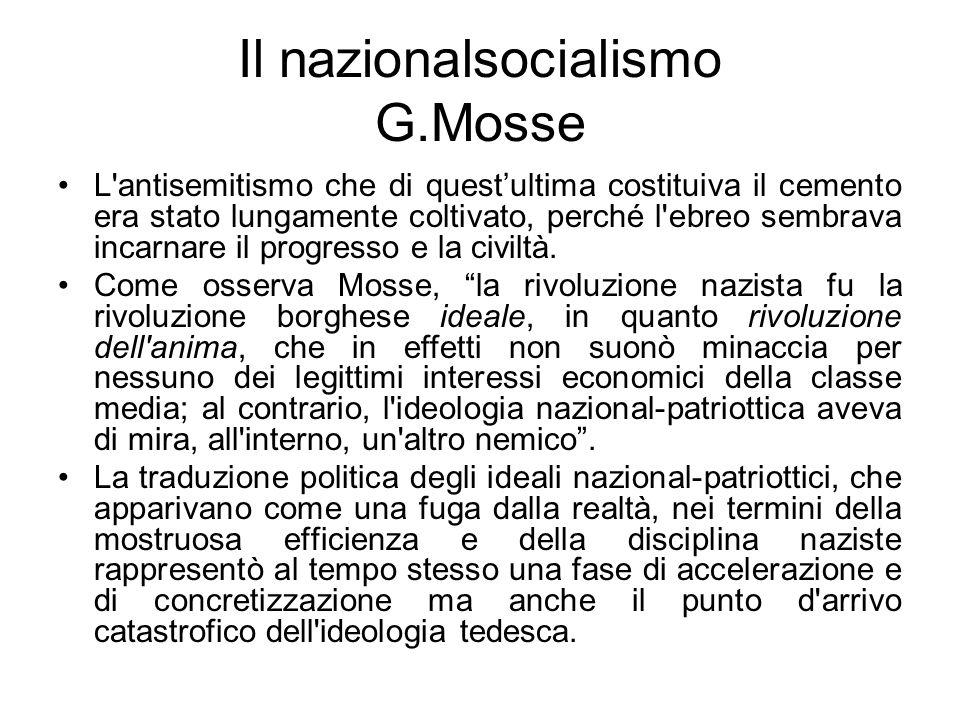 Il nazionalsocialismo G.Mosse