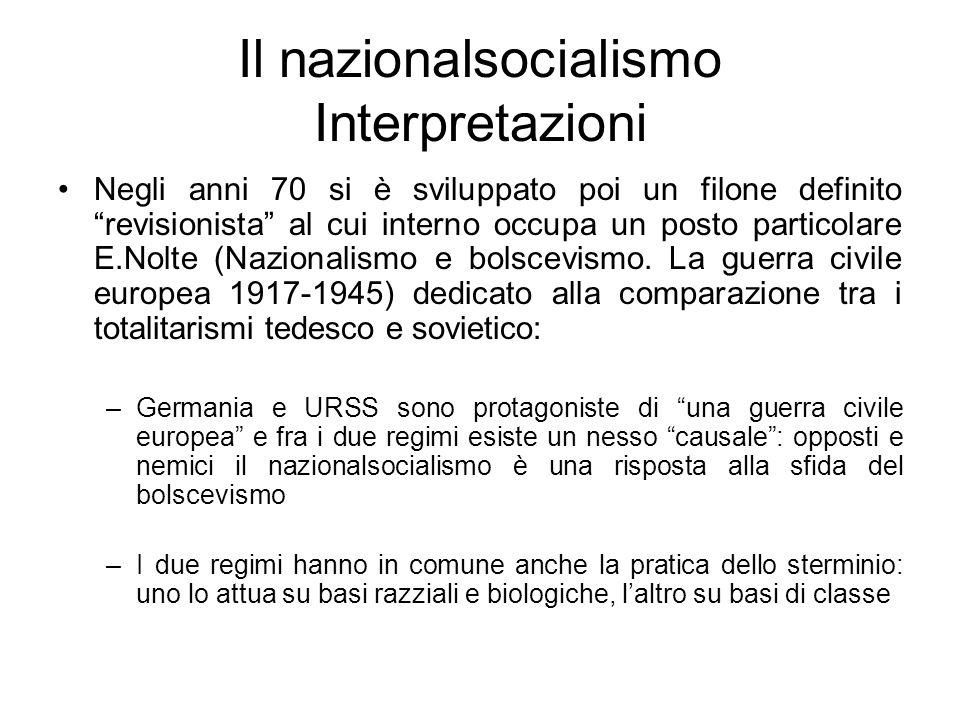 Il nazionalsocialismo Interpretazioni