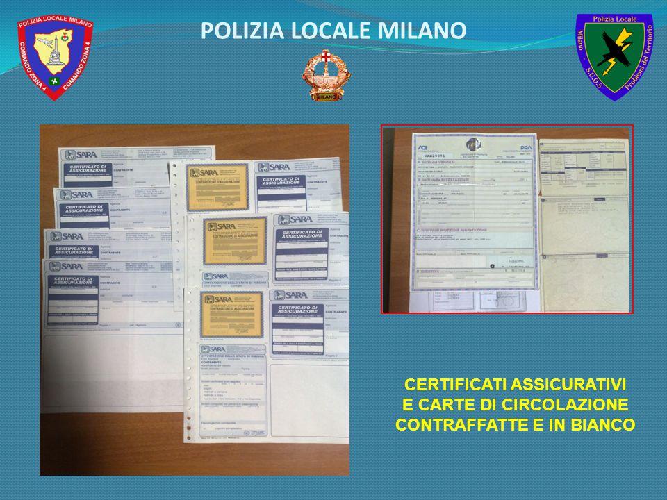 POLIZIA LOCALE MILANO CERTIFICATI ASSICURATIVI