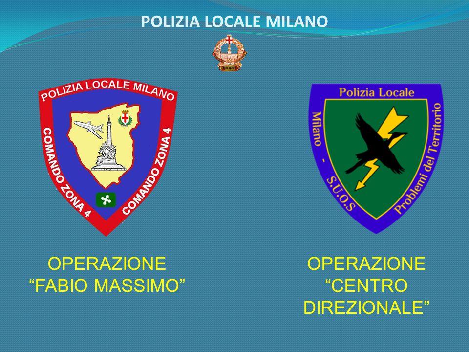 POLIZIA LOCALE MILANO OPERAZIONE FABIO MASSIMO OPERAZIONE