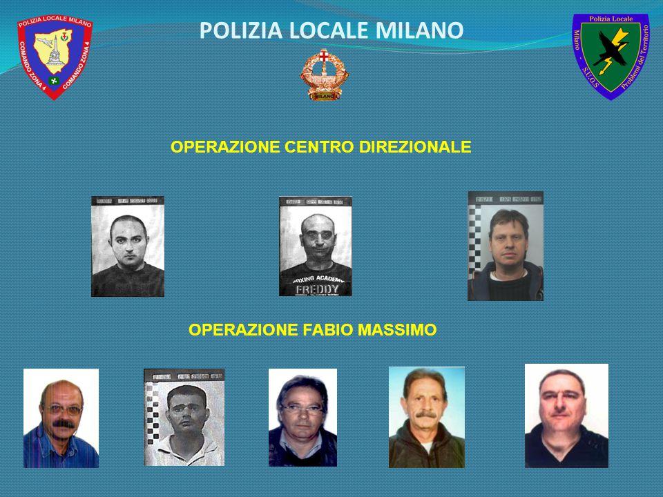 OPERAZIONE CENTRO DIREZIONALE OPERAZIONE FABIO MASSIMO