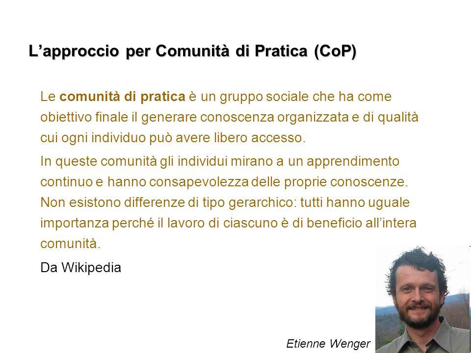 L'approccio per Comunità di Pratica (CoP)