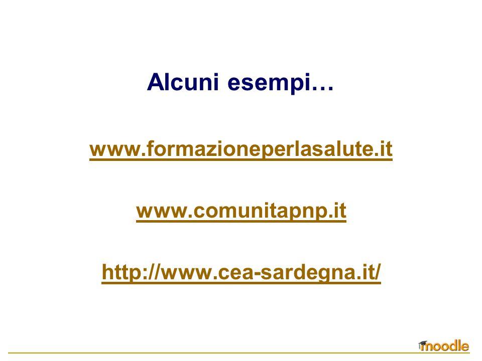 Alcuni esempi… www.formazioneperlasalute.it www.comunitapnp.it