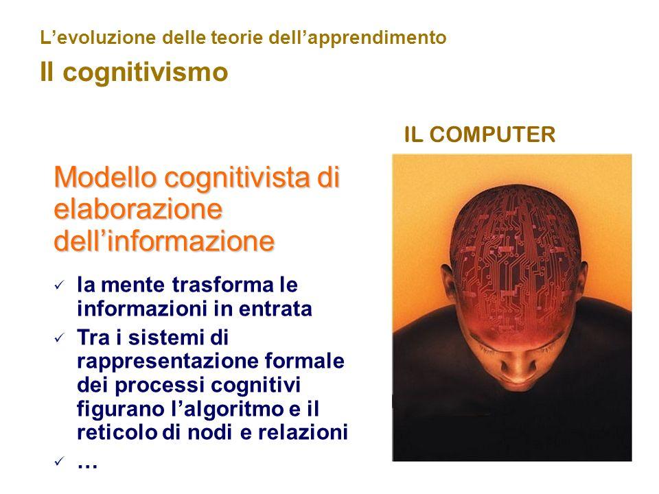 L'evoluzione delle teorie dell'apprendimento Il cognitivismo