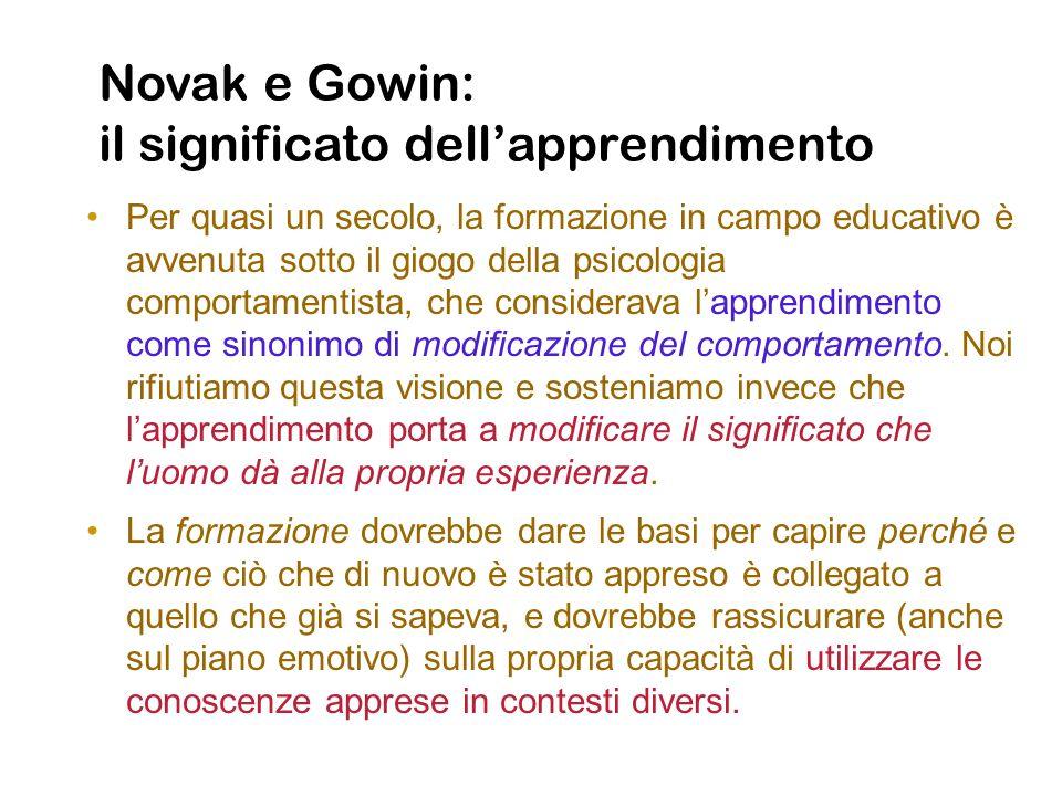 Novak e Gowin: il significato dell'apprendimento
