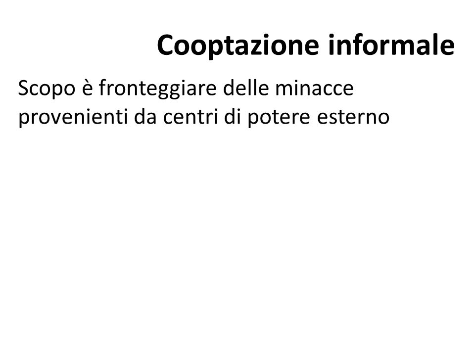 Cooptazione informale