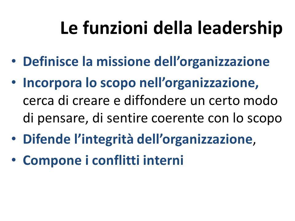 Le funzioni della leadership