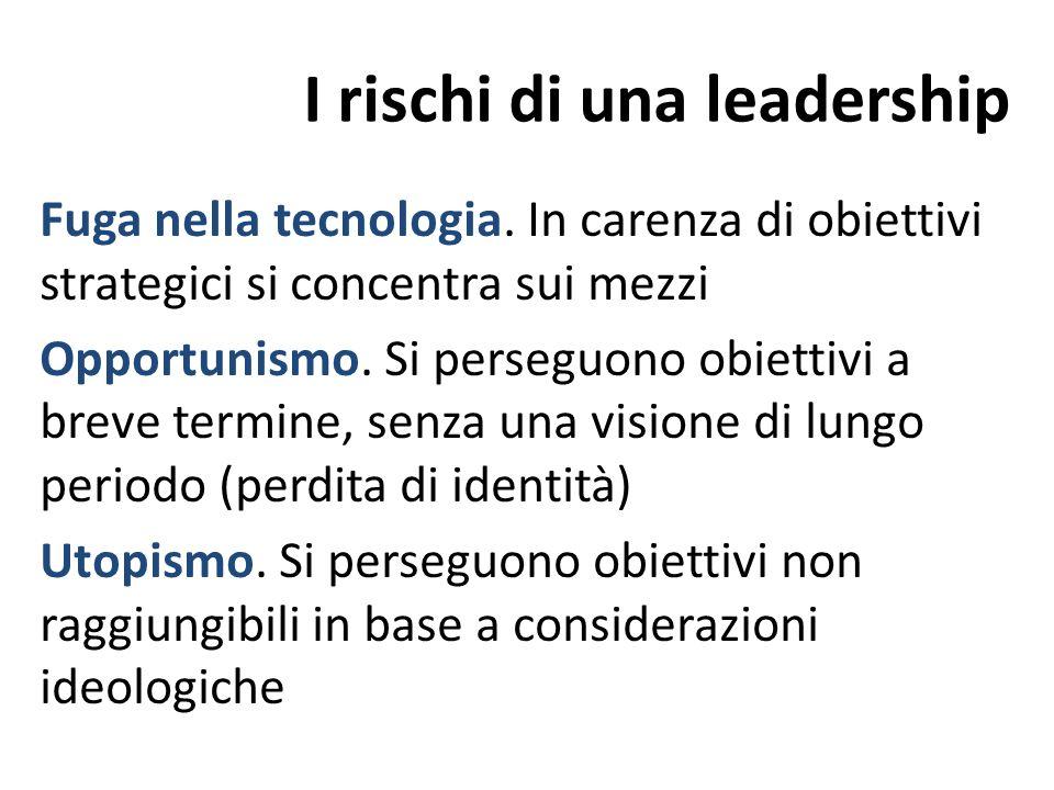 I rischi di una leadership