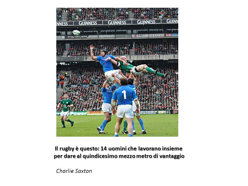 Il rugby è questo: 14 uomini che lavorano insieme