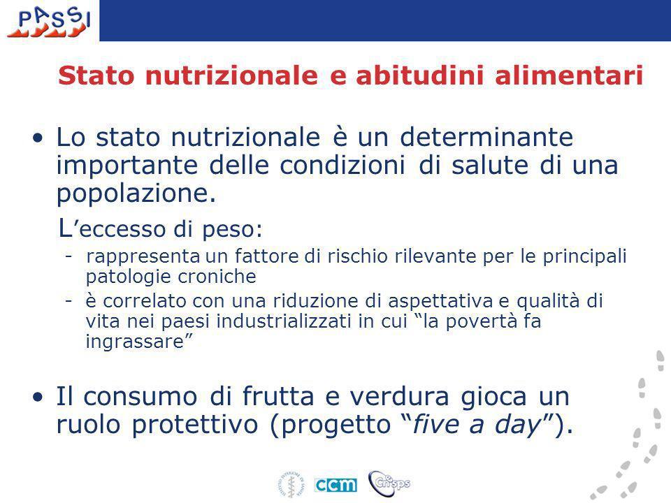 Stato nutrizionale e abitudini alimentari