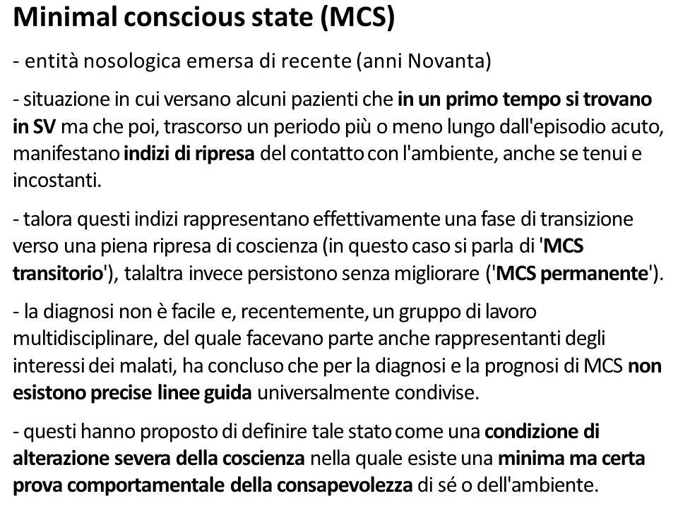 Minimal conscious state (MCS)