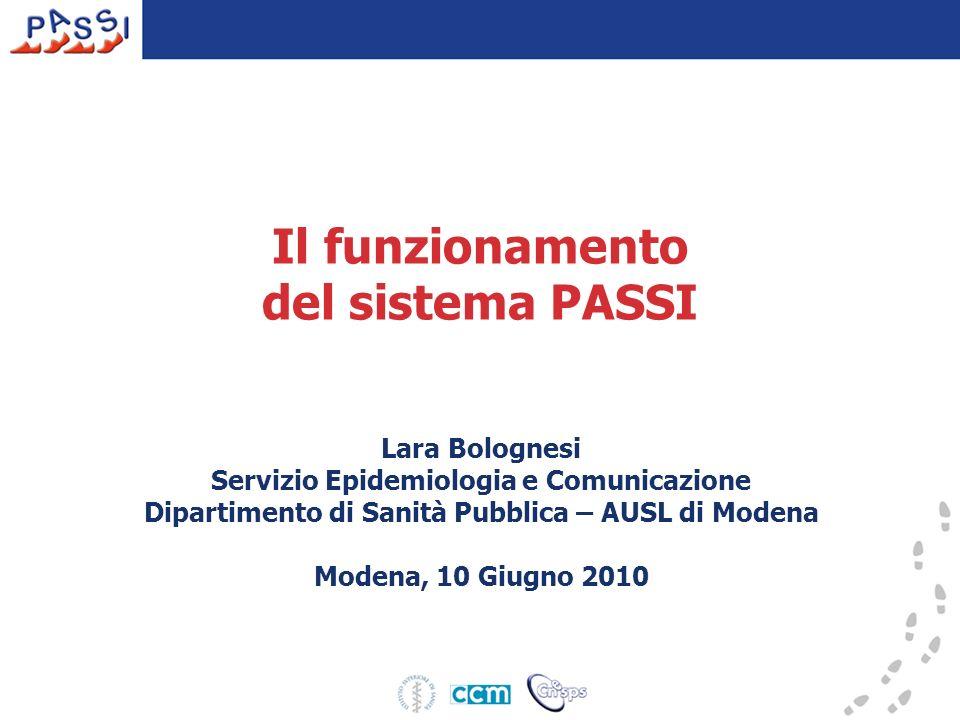 Il funzionamento del sistema PASSI