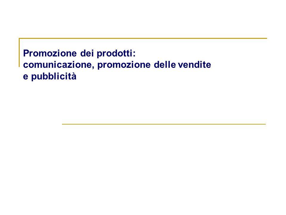 Promozione dei prodotti: comunicazione, promozione delle vendite e pubblicità