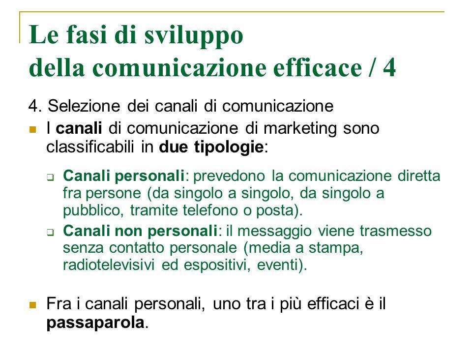 Le fasi di sviluppo della comunicazione efficace / 4