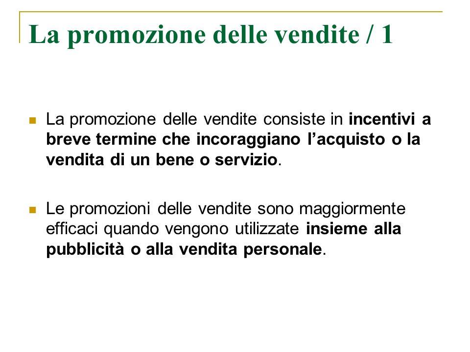 La promozione delle vendite / 1