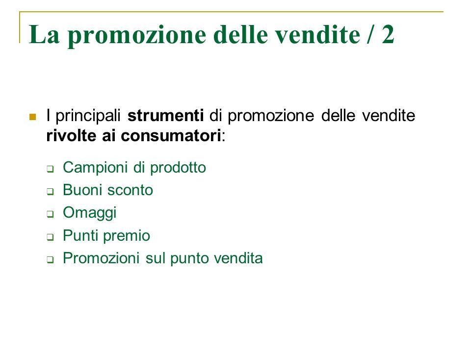 La promozione delle vendite / 2
