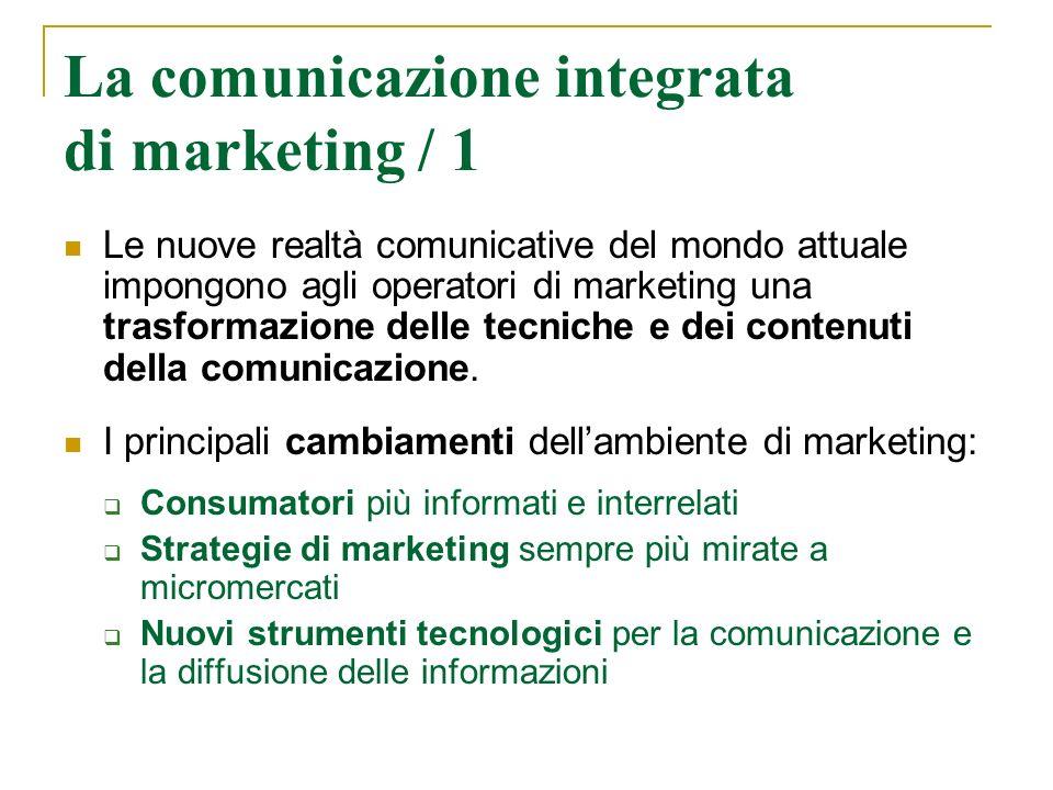 La comunicazione integrata di marketing / 1