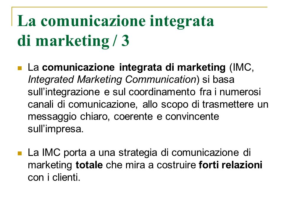 La comunicazione integrata di marketing / 3