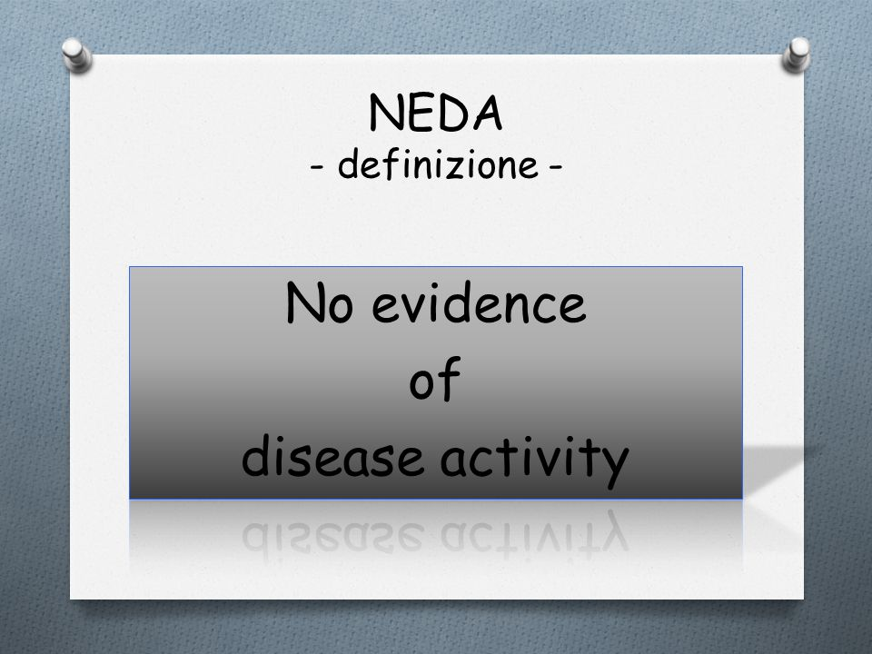 No evidence of disease activity