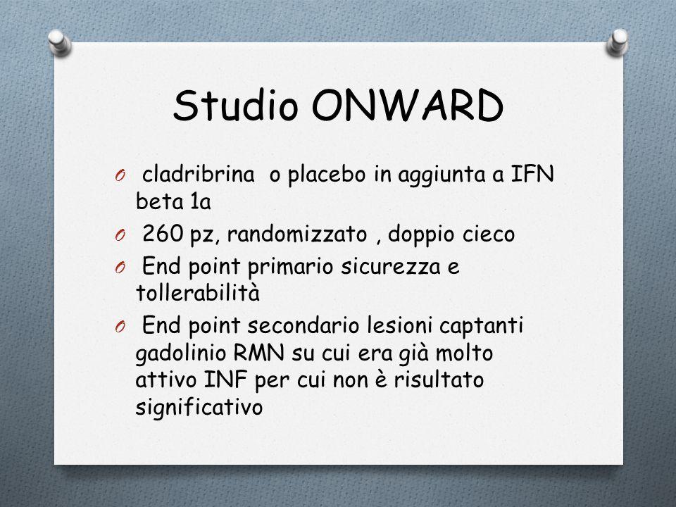 Studio ONWARD cladribrina o placebo in aggiunta a IFN beta 1a