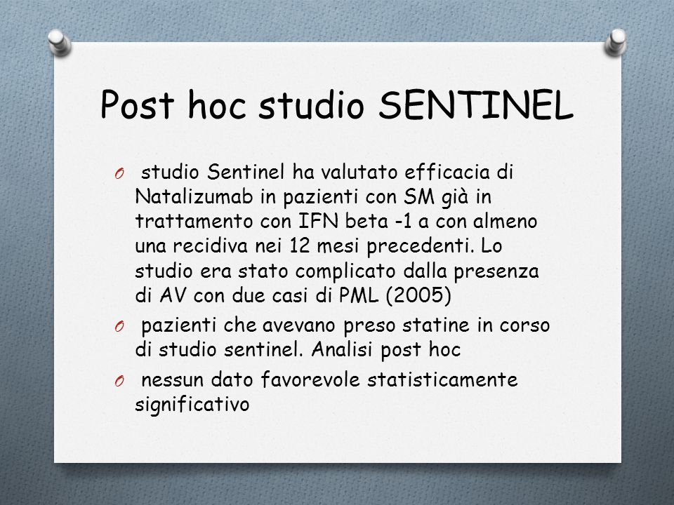 Post hoc studio SENTINEL