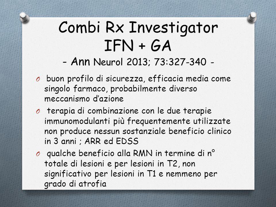 Combi Rx Investigator IFN + GA - Ann Neurol 2013; 73:327-340 -