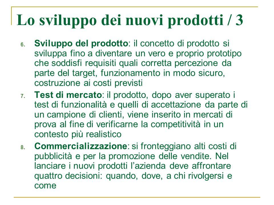 Lo sviluppo dei nuovi prodotti / 3
