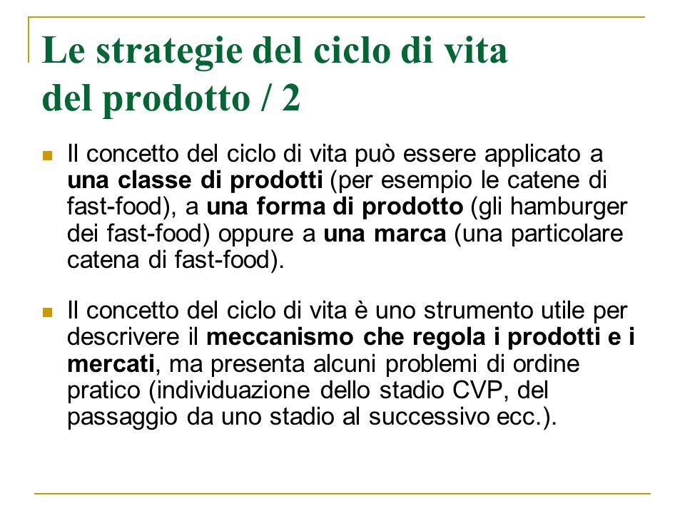 Le strategie del ciclo di vita del prodotto / 2