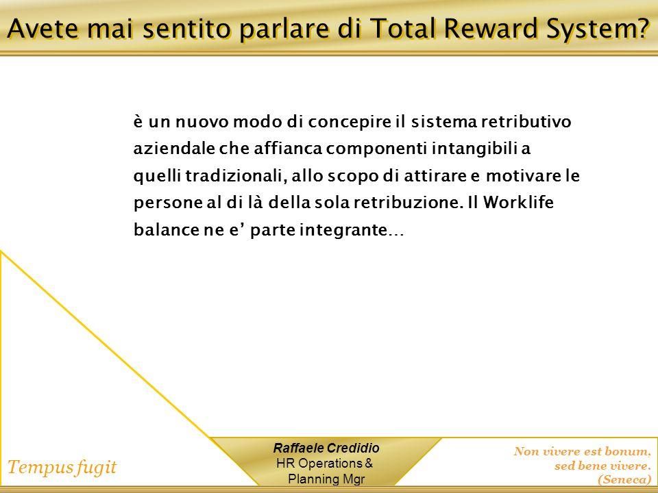 Avete mai sentito parlare di Total Reward System