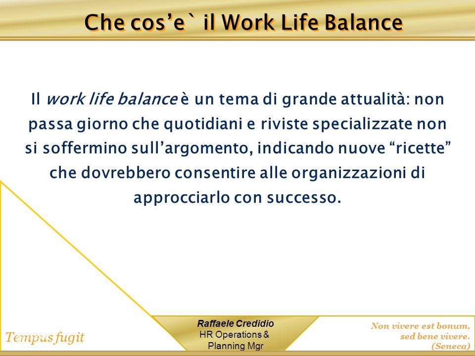 Che cos'e` il Work Life Balance