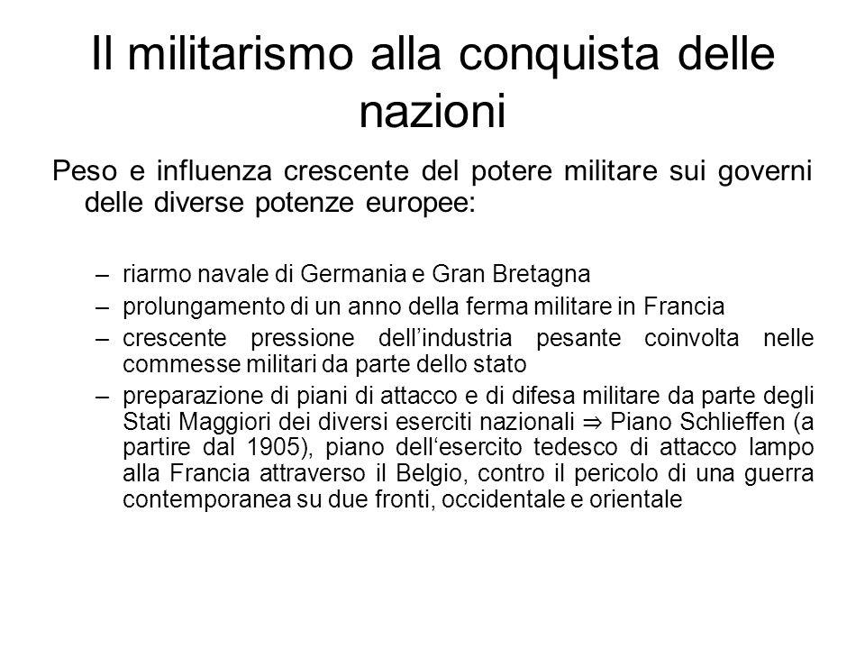 Il militarismo alla conquista delle nazioni