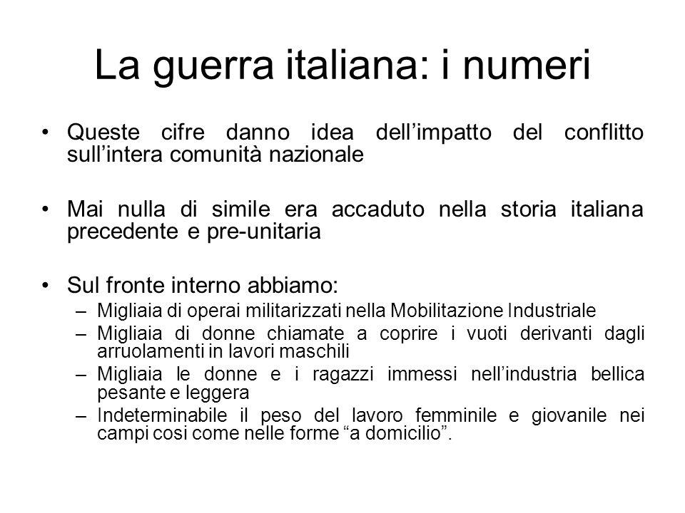 La guerra italiana: i numeri