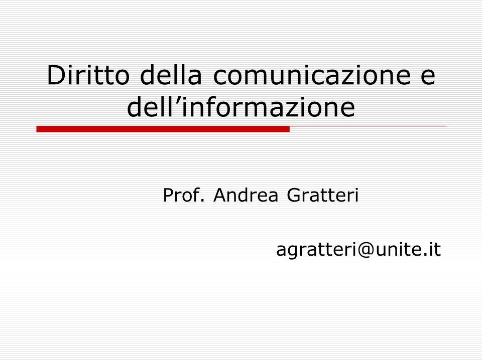 Diritto della comunicazione e dell'informazione