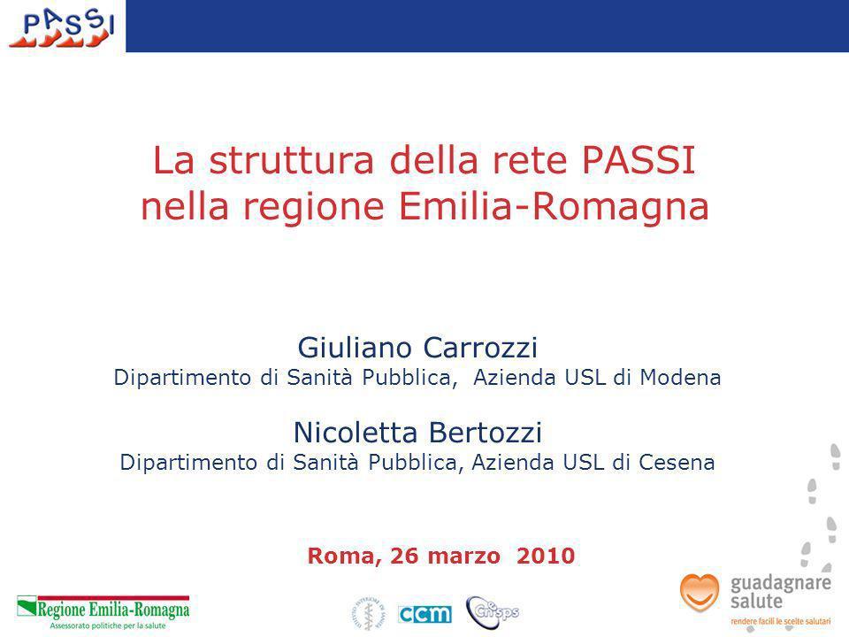 La struttura della rete PASSI nella regione Emilia-Romagna